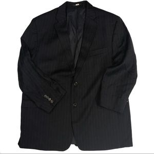 Lauren Ralph Lauren Black Pinstripe Wool Blazer